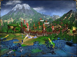 The elven settlement located in the neighborhood of sacred mountain is being assaulted by the undead.